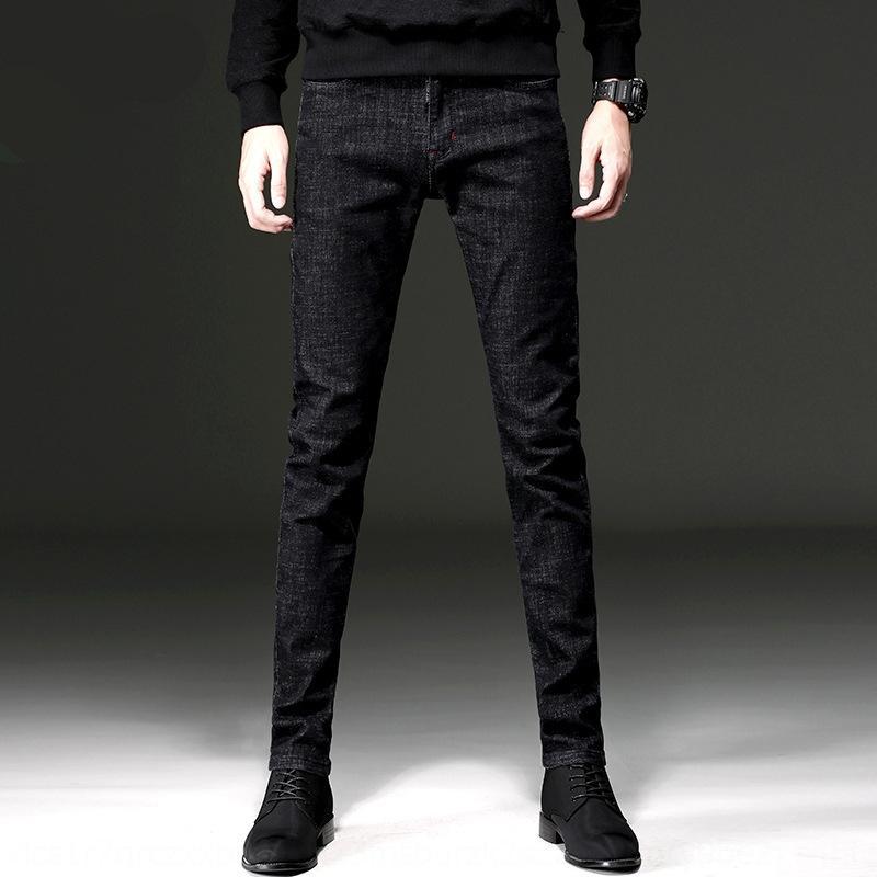 1RSzn Весна черные мужские случайные брюки джинсы и джинсы Slim маленьких мужские модные ноги весной и осенью Корейский моды случайные штаны KP5Pi