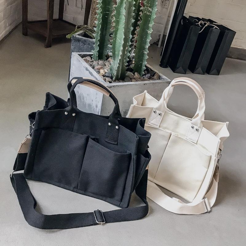 2021 sacs à main fourre-tout Sacs femmes Summer Messenger Sacs Nouveau pour l'épaule de mode HASPSOFT Sacs Casual Canvas Sacs Femme Owvql