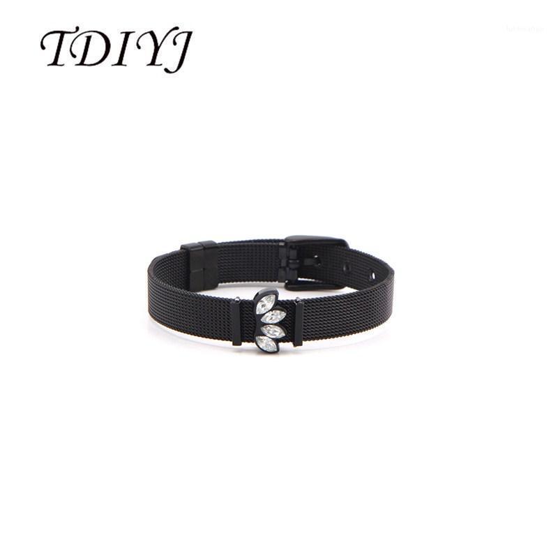 Braclets Charm Bracelets TDIYJ BRANK BLACK Sunburst Slide Charms Waph Mesh Bracte для женщин Летний пейзаж Series1