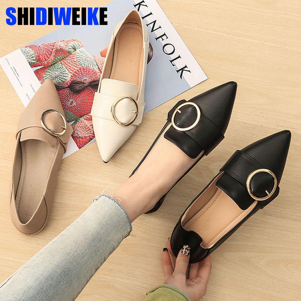 Весна Новые Женщины Квартиры неглубокие Женская обувь с острым носом твердых Причинная Мода Rubber Mujer обувь G009 1006