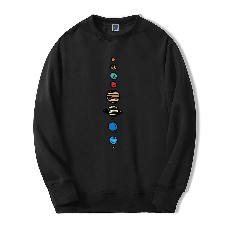 Planeten-Farben-Männer Hoodie Herbst-Winter-warme Fleece-Qualitäts-Sweatshirts Kreative Funny Fashion Fitness Hoodies