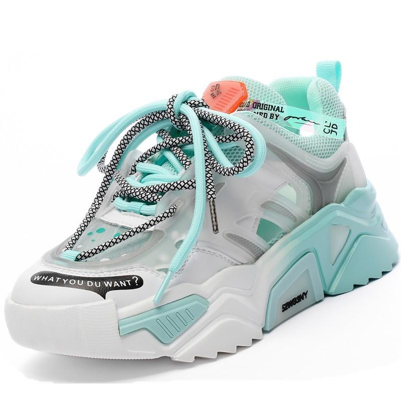 RASMEUP Rainbow Bottom Women's Platform Sneakers 2020 Summer Fashion Genuine Leather Chunky Women Shoes Trainers Ladies Footwear LJ201201