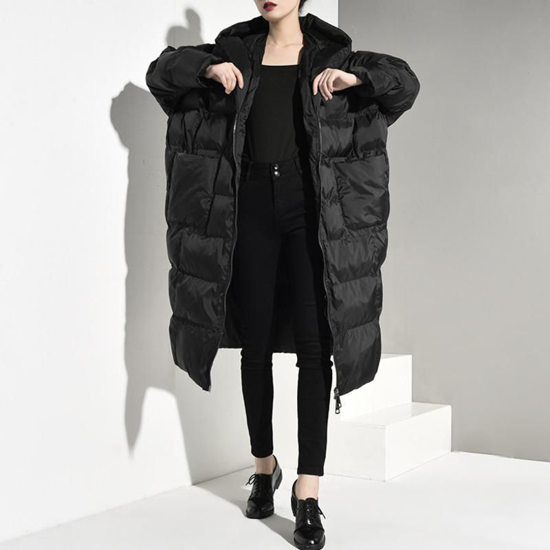 LANMREM cold winter hooded zippers batwing styles pocket plaided cotton paded coat women warm parka quality stocks jd12101 201023