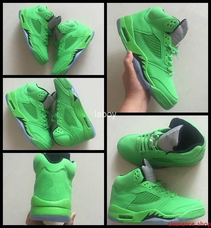 Zapatos nuevos hombres 5 V de baloncesto baratos zapatillas de deporte al aire libre verde 5s Baloncesto Botas para hombre de Entrenadores de Atletismo Calzado deportivo Tamaño 41-47