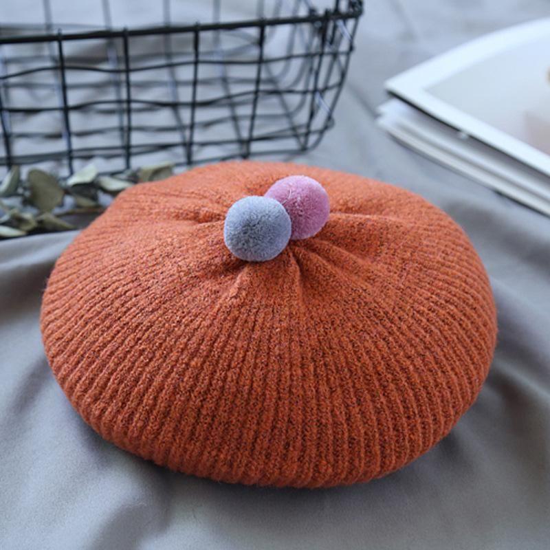 BEHERN KINDERS Damen Herbst und Winter gestrickte Wollhüte ohne Krempe Warme Hut Outdoor Spielen Sie Beanie