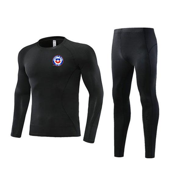 Newest Chile Soccer Outdoor Tight Tracksuits Kids Clothing Size22 Men's Athletic Sets Adult Football Warm Suit Size L