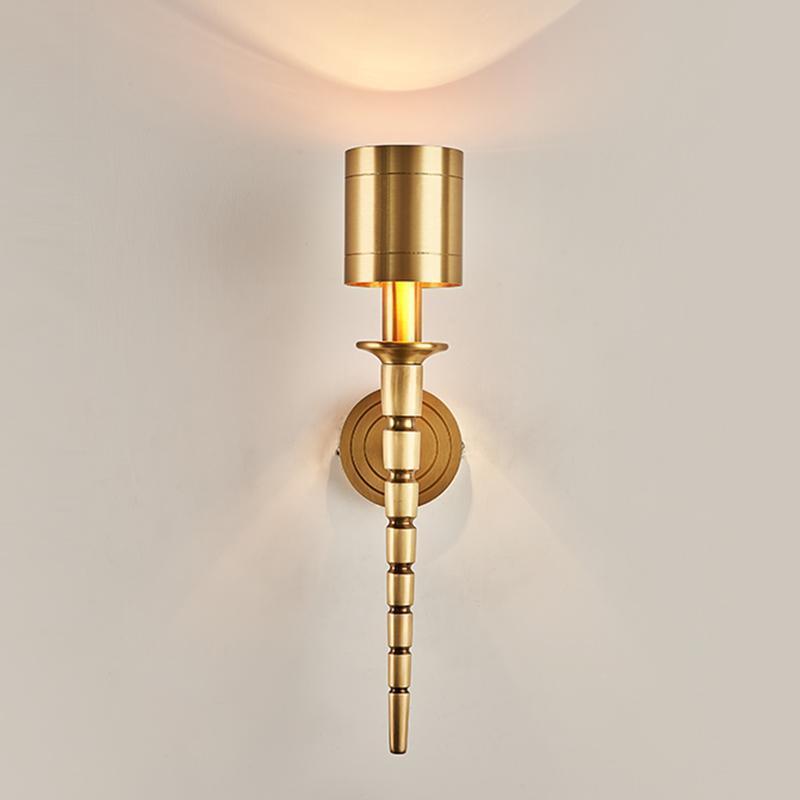 Lampada da parete in rame Grand Villa Specchio Lampada da parete Specchio Soggiorno Vintage Lampade da parete in ottone Vintage Camera Hotel in marmo