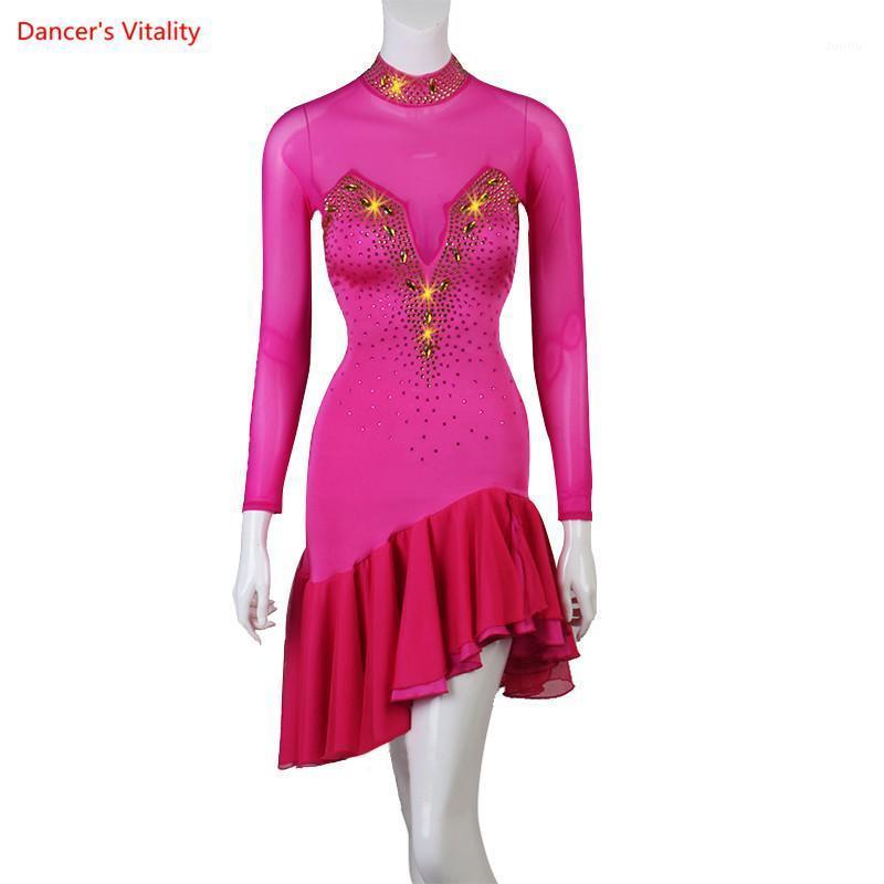 Sahne Giyim Kadın Latin Elbise Dans Kadın Balo Salonu Tango Flamenko Elbiseler Samba Kostümleri Seksi Dans Bayan1