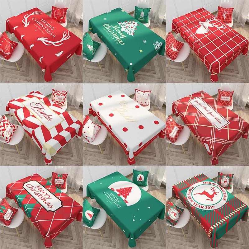 Lin Coton Nappe de Noël Ins Nordic Wind Simple imperméable Nappe des ménages Tableau Tissu