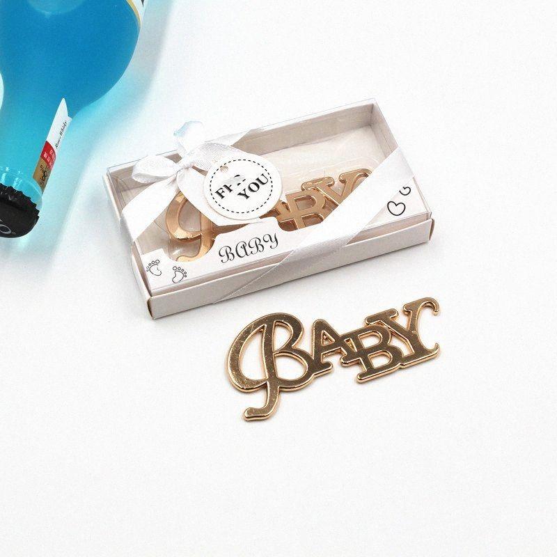 20pcs металла Детские бутылки пива открывалка Baby Shower сувениры и подарки Крещение сувениры партии Крестины украшения EDSL #