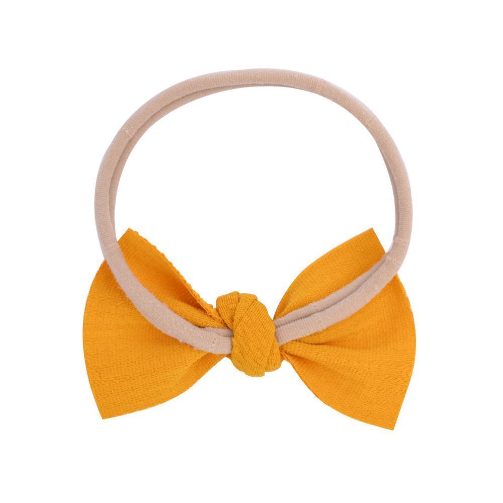 20 Farben Hot Nylon Baby Stirnband mit unordnendem Bogenmädchen Hairbows Infant Feste Samll Bug Headwrap Neugeborene Headwear Haarschmuck Q SQchhh