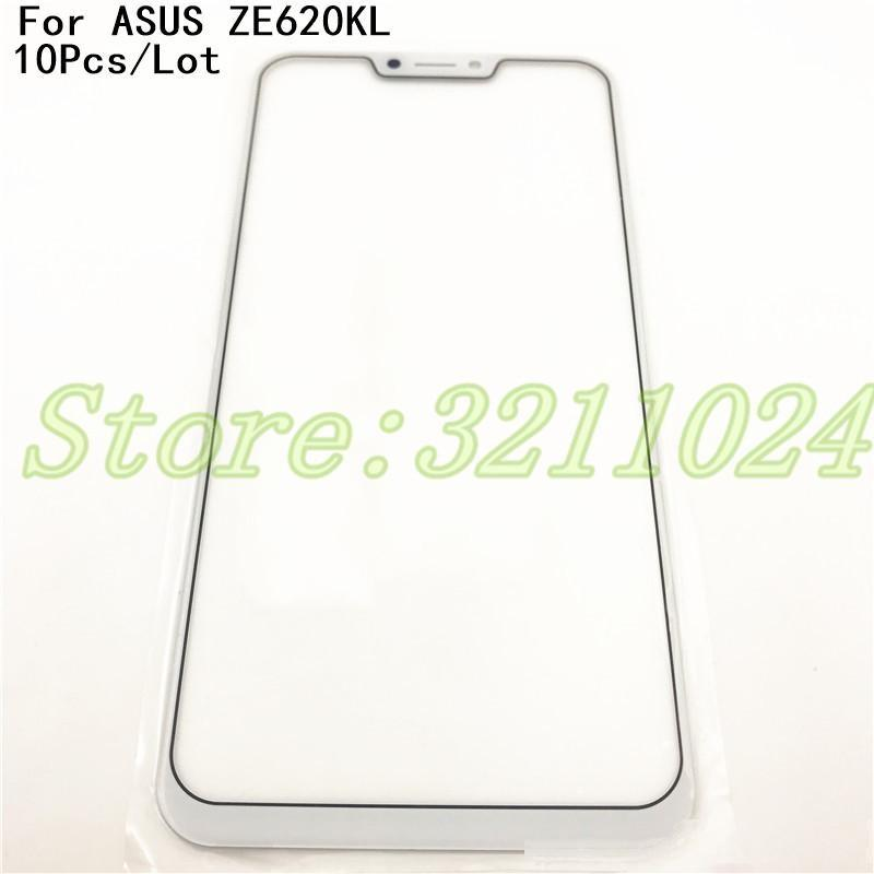 Schermo anteriore di tocco 10Pcs / Lot 100% LCD di ricambio originale di vetro esterno dell'obiettivo Per Asus Zenfone 5 ZE620KL Zenfone 5Z ZS620KL X00QD