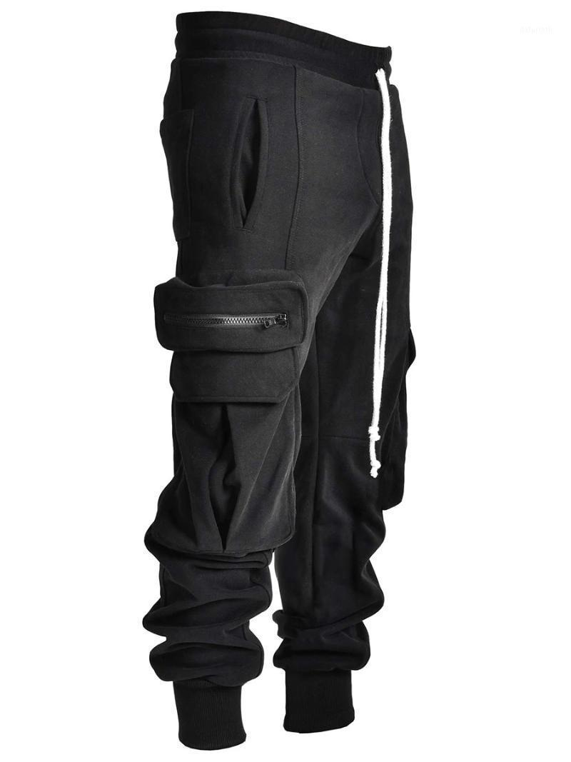2020 new Men's trendy casual pants ropa deportiva mujer gym Baggy wide-leg overalls with a corset CN(Origin) 4561