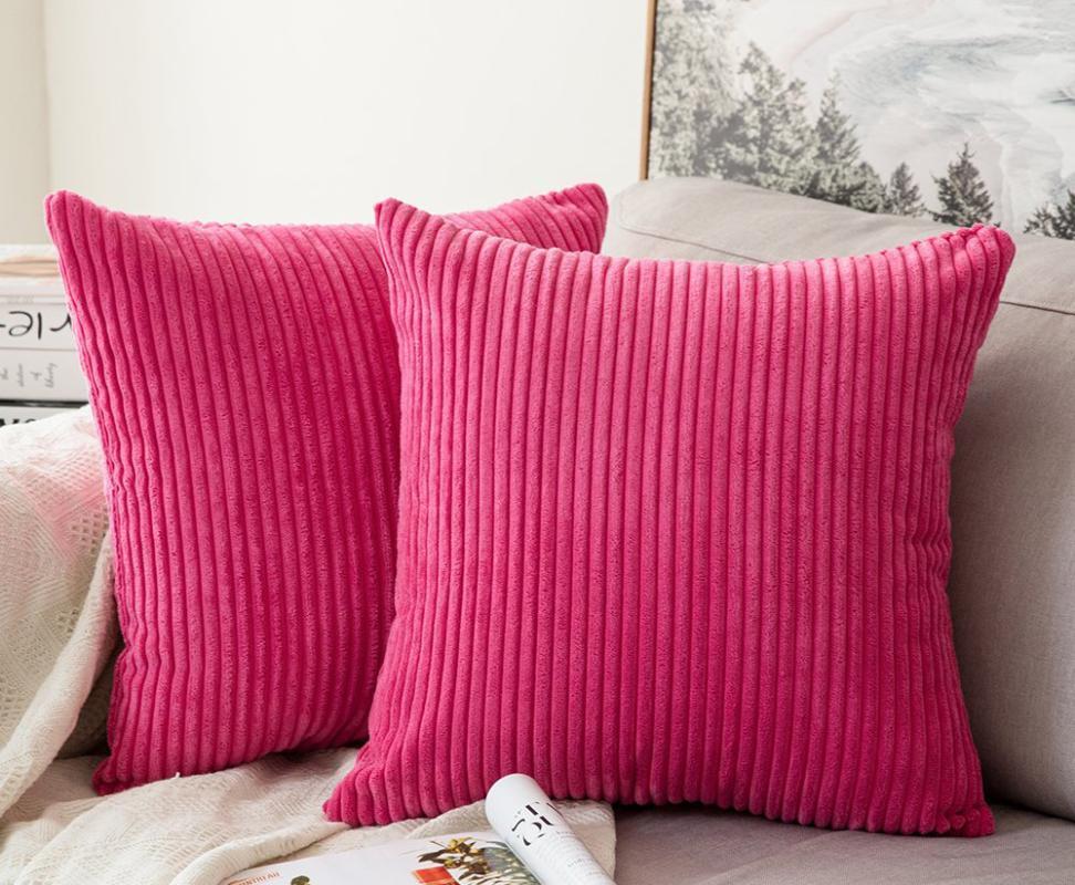 Home Camera da letto cuscino cuscino solido federa morbido corduroy cuscino cover fodera federa tessile domestico 8 colori