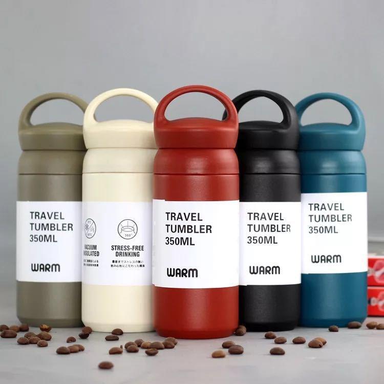 Heiße Premium-Reise-Kaffeetasse Edelstahl-Thermos-Tumbler-Becher-Vakuum-Flasche Thermo-Wasser-Flasche-Teetasse ThermoCup