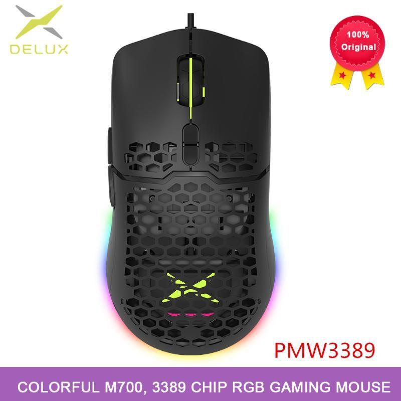 Красочные M700 проводная мышь отверстие, легкая конструкция, 3389 чип, два способа регулировки DPI RGB игровой мыши