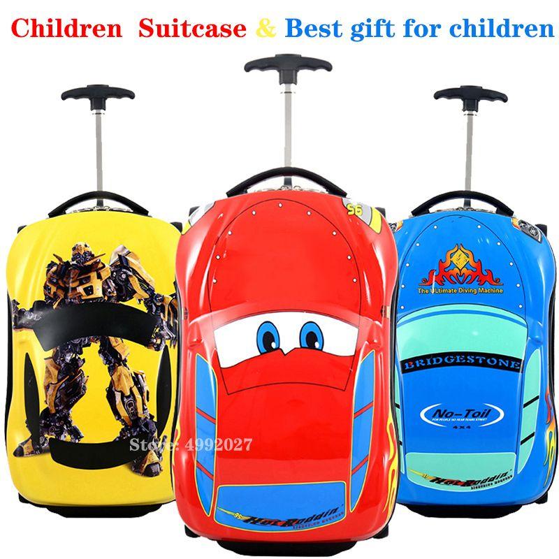 Voiture enfants Trolley Tolley Boys Wheeled for Kids Rolling Bagger Suitcase LJ200928