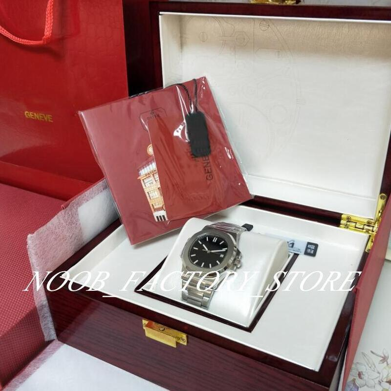 U1 Factory Новое Черное Мужское Автоматическое движение 40 мм Часы Классические 5711 Часы Прозрачные Наручные Наручные Часы Новая Оригинальная коробка