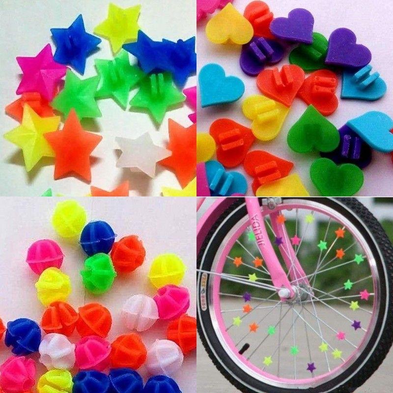 Renkli Bisiklet Zincir Dekorasyon Çocuk Yıldız Boncuk Aşk Kalp Moda Aksesuarları Şekilli Çocuk Tekerlek Klip Bisikleti Açık Havada Konuştu 0 7GT K2