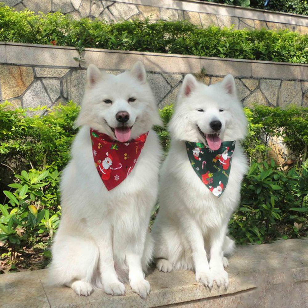 Cão, vestuário, banda, collar, bandana, para, festa de Natal, pet, lenço, levadada, lavável, bibs, gato, presentes
