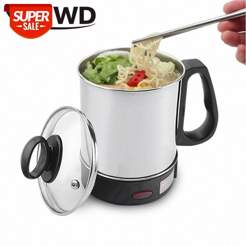 Dmwd multicooker frigideira elétrica portátil de aço inoxidável aquecimento copo macarrão leite sopa mingau cozinhar potenciômetro mini caldeira de café # uw5d