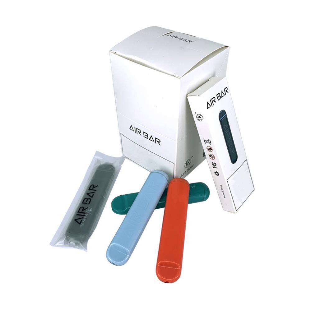 고품질 ECIG 기화기 펜 에어 바 vape 펜 500 조회 일회용 장치 스타터 키트 휴대용 vape 포드 장치 380mah 스틱 퍼프 바 플러스