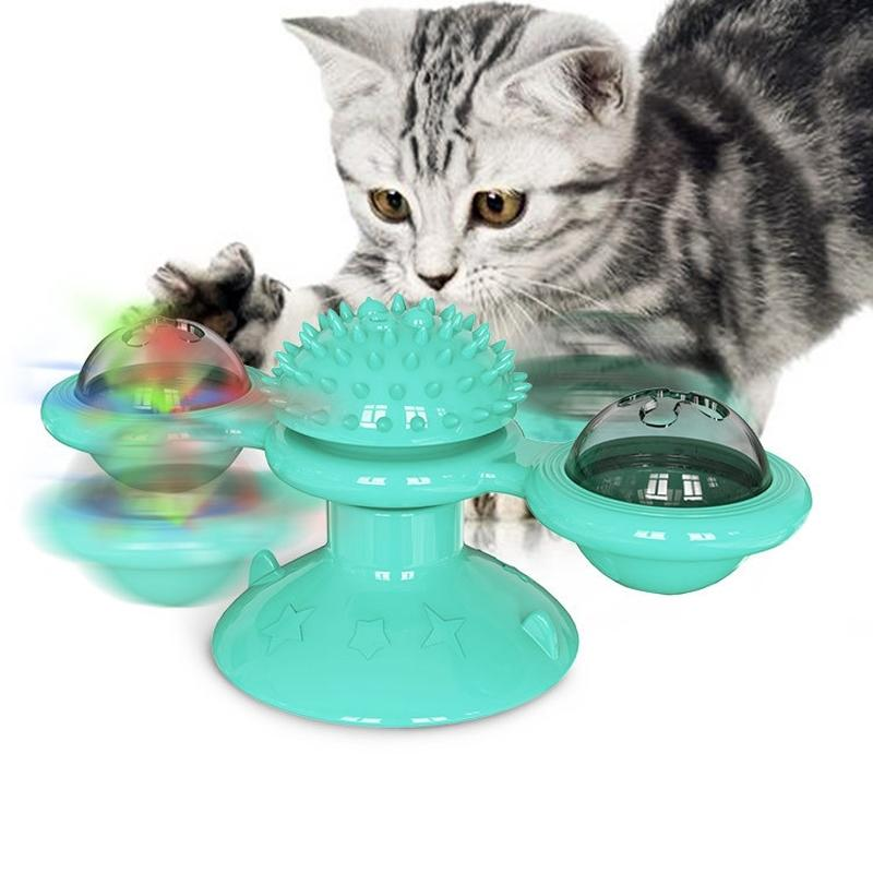 Giocattoli di gatto Giradischi giradischi per gatti puzzle con massaggio spazzola gatto gioco giocattoli giocattoli giocattoli del mulino a vento kitten giocattoli interattivi forniture pet 201111