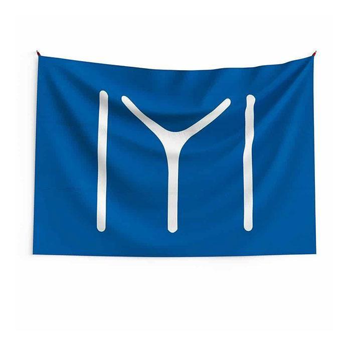Kayi-Flagge-IYI-Flagge 3x5 ft 90x150cm doppelte Nähte 100d Polyesterfestival Geschenk Indoor Outdoor Printed Heißer Verkauf