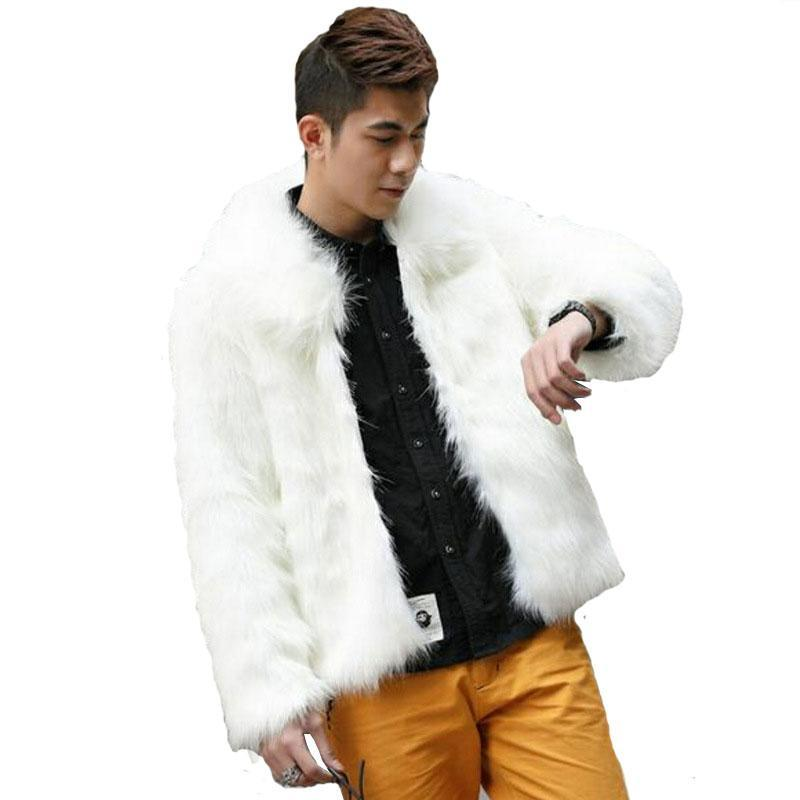 Autumn and Wwinter New Men's Fur Coat Imitation Fur long coat Slim Warm Europe and the United States Large size