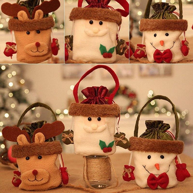 Decor presente Saco dos doces Início festa de Natal quente bonito Xmas Papai Noel Boneco Elk Decorações de Natal Com o Natal m4qs #