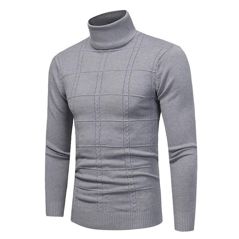 Pull Streetwear Printemps Automne Hiver Hommes Hommes Casual Pull à manches longues Vêtements pour hommes Turtelneck Pull hommes
