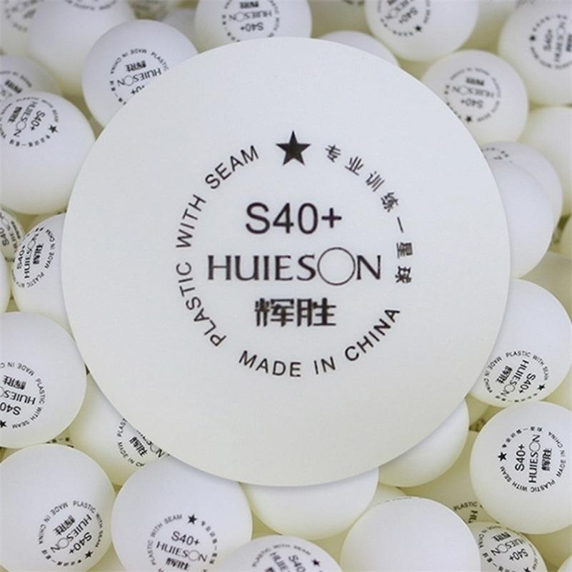 Huieson 50pcs / bag 1 Star ABS البلاستيك تنس الطاولة كرات 40 + مم 2.7 جرام بينغ بونغ كرات للمراهقين نادي التدريب S40 + 201116