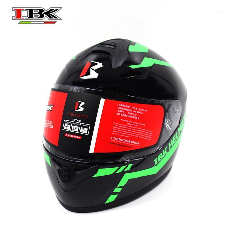 IBK Racing Motorbike Шлем Полное лицо Защитный Электрический Велосипед Анти-УФ Флипп-вверх Супер Холодный Летний Шлем IBK-9011