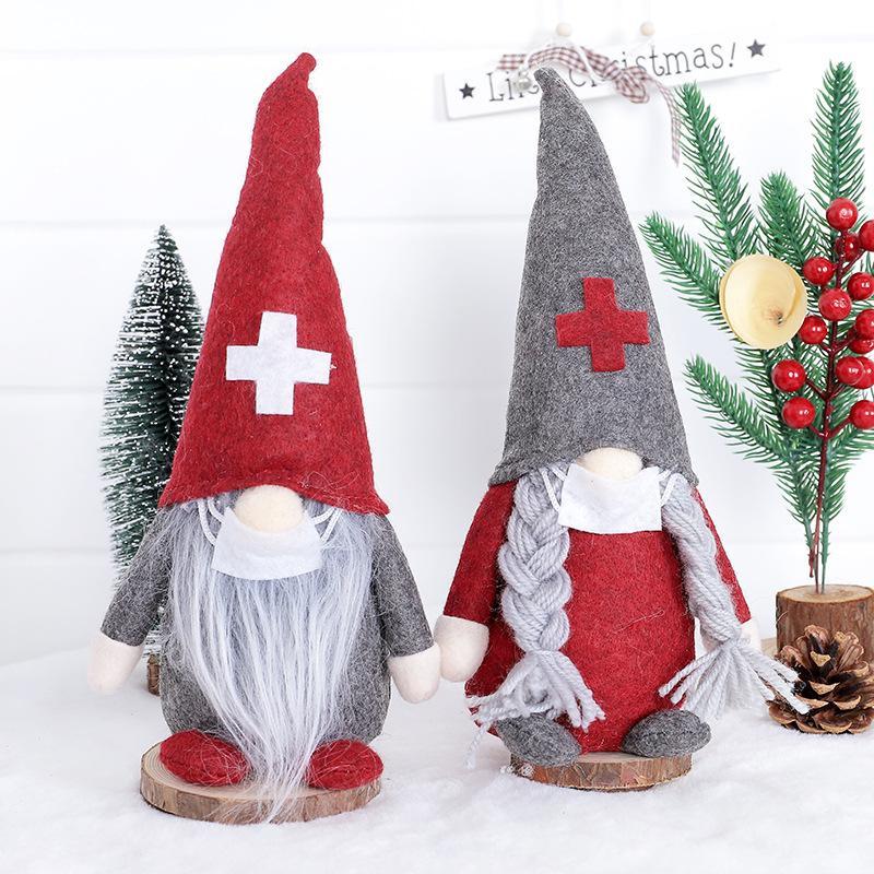 Decoraciones navideñas Muchacha Muñeca Muñeca Santa Claus Muñeca Dibujos animados Sprite Sprite Juguetes Decoración Escena de la ventana Disposición KKA2128