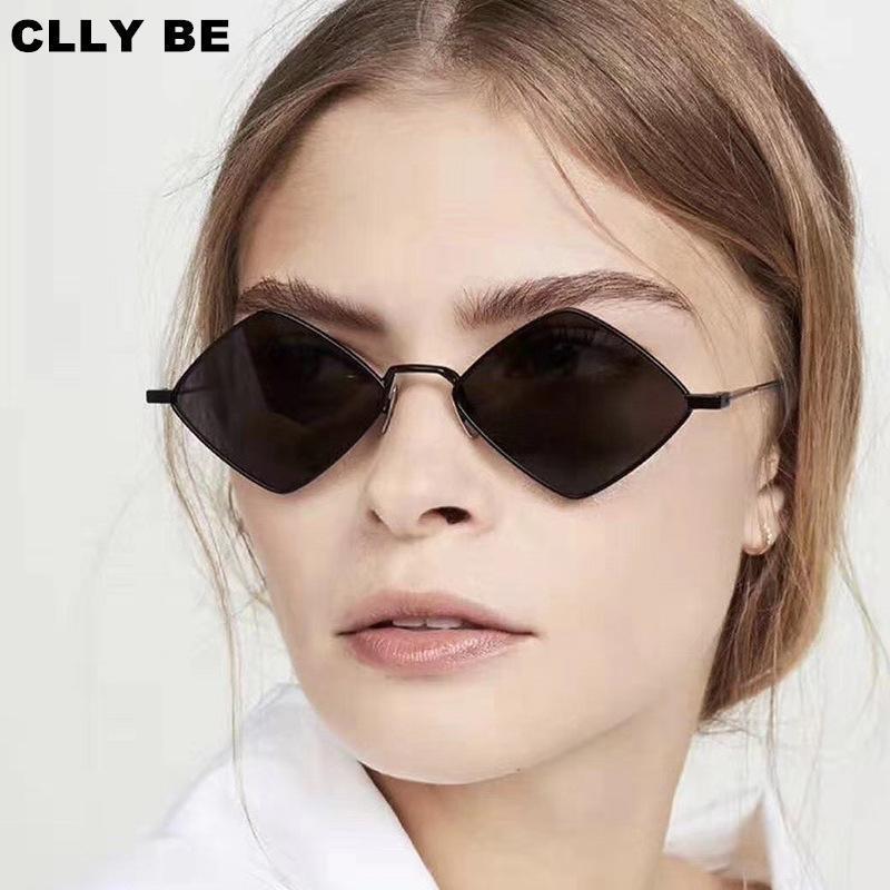 Moda Metal Rhombus Güneş Gözlüğü Kadın Düzensiz Vintage Küçük Çerçeve Güneş Gözlükleri Gözlük Goggle UV400 Bayanlar ulculos Gafas de Sol1