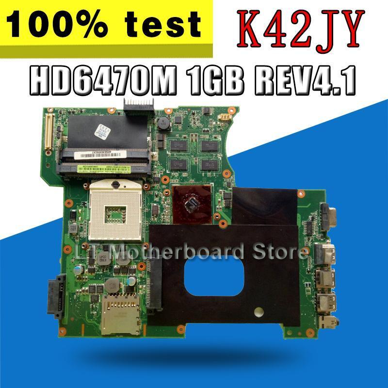 K42JY Motherboard REV4.1 HD6470M 1GB For Asus X42J A42J K42JY Laptop motherboard Mainboard test 100% ok