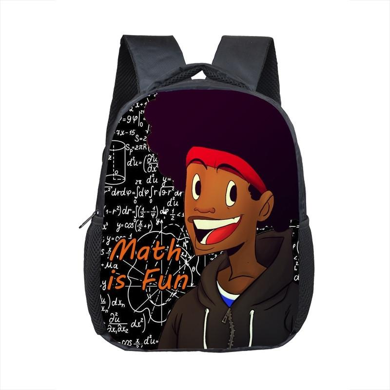 Un incroyable garçon noire imprimé afro brun maternelle sac à dos enfants sacs de l'école de dessin animé sac à bambins enfants Bookbag Y200328
