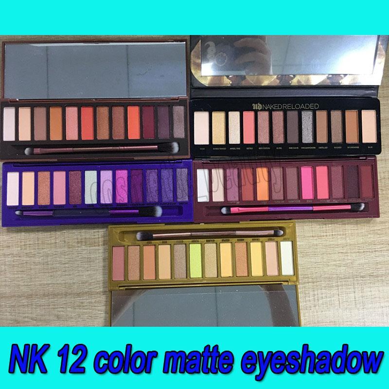 2019 Dernier chaleur Nu Maquillage Nu Shadow Heat Cherry Honey Reloaded Ultra Violet Eau à paupières classique Palette à paupières 12 couleurs High Quanlity