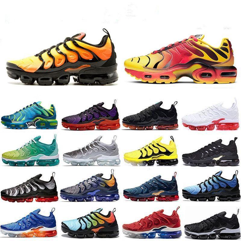 2020 heißer Verkauf neuer TN plus Herren Laufschuhe in Metallic Olive Damen Designer Luxusschuhe Sneakers Marke Mode Trainer Schuhe