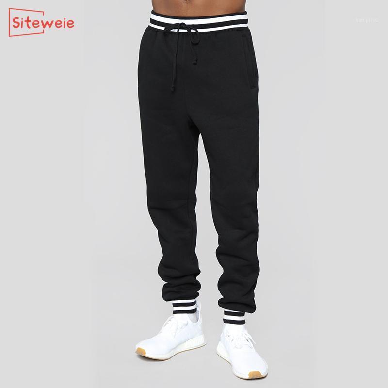 SitesiWeie Moda Jogging Pantolon Erkekler Sweatpants Spor Rahat Spor Pantolon Antumn Kış Eğitim Koşu Gevşek Uzun Pantolon G5401