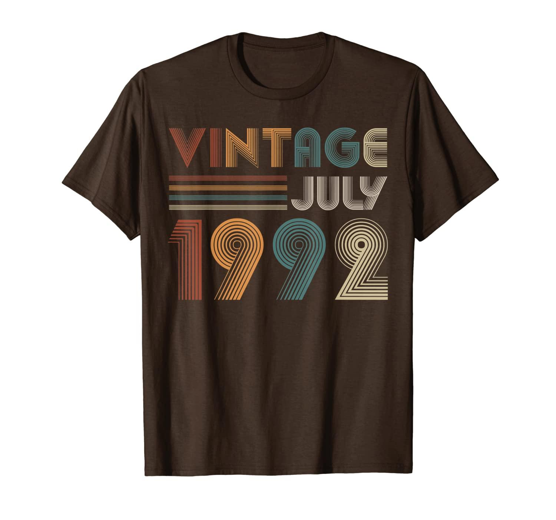Retro Vintage luglio 1992 T Shirt 27 ° compleanno Regali TEE