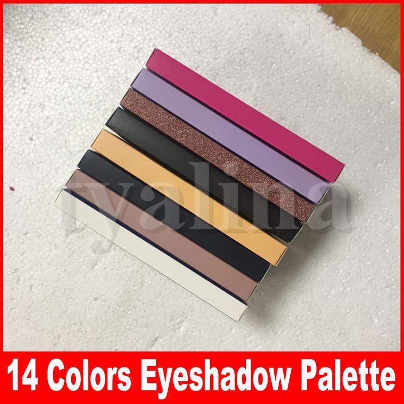 11 Stili Eye Trucco Tavolozza Rose Gold Stripe 14 Colori Eye Shadow tavolozza moderna morbida con pennello 14 tavolozza di colori in magazzino