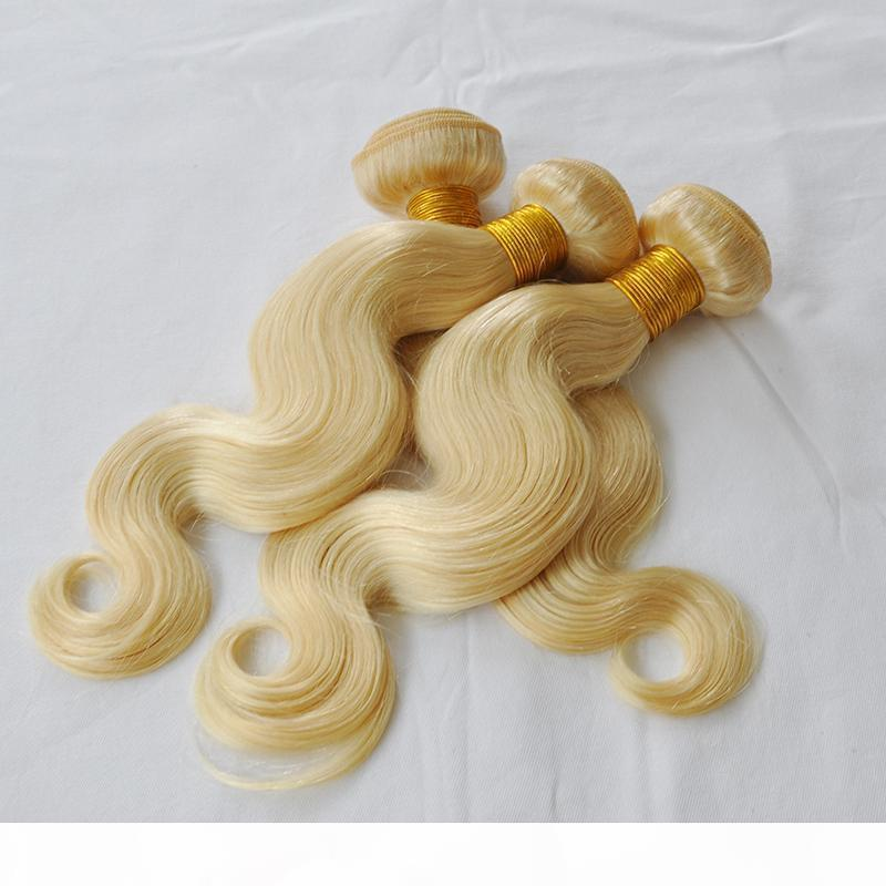 Brazilian Body Wave blonde Hair 613 Bundles Bleached 10-28 Inch 100% color 613 Human Hair blonde Weave Non Remy Hair Extensionl