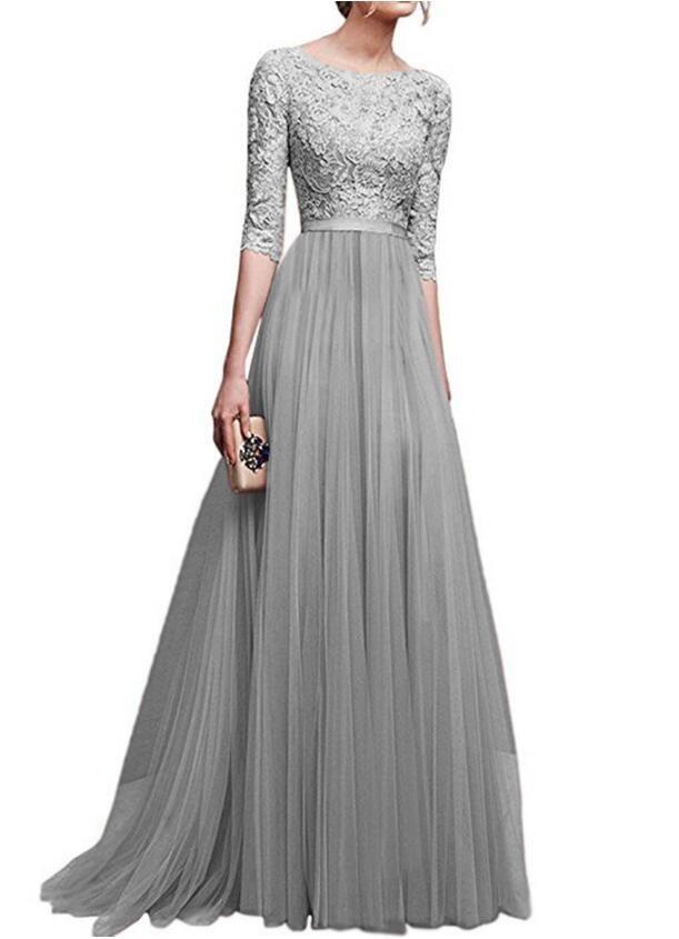 2020 nouvelle robe de soirée en mousseline de soie robe de soirée longue robe de demoiselle d'honneur jupe