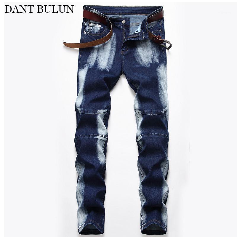 Hommes Slim Fit Jeans pour le pantalon droit masculin Stretch Denim Hommes Jeune Pantalons élastiques Classical Blue Pantalon Casual Jeans Homme1