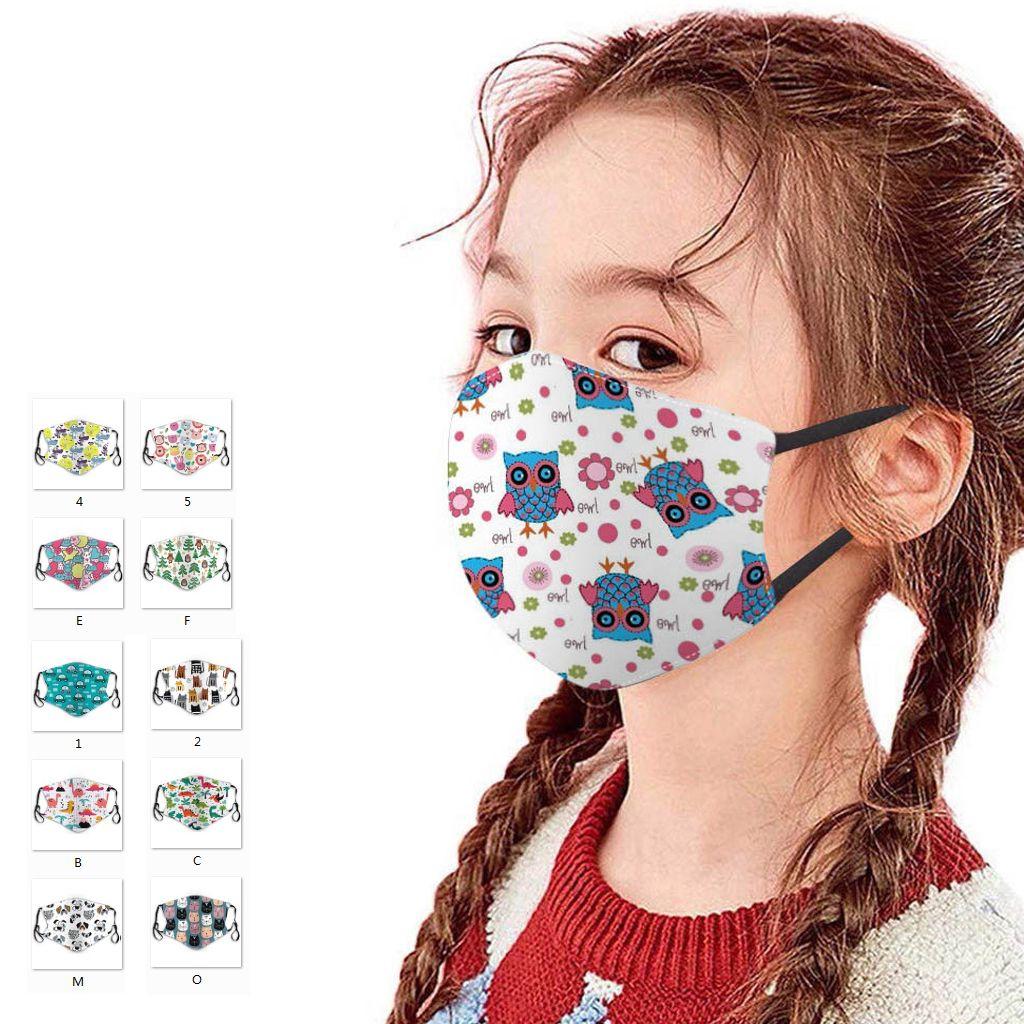 Новые дети сталкиваются маской печати малыш рта маски пылезащитного househould защитного хлопок Многоразовых моющихся моды дизайна дети маска