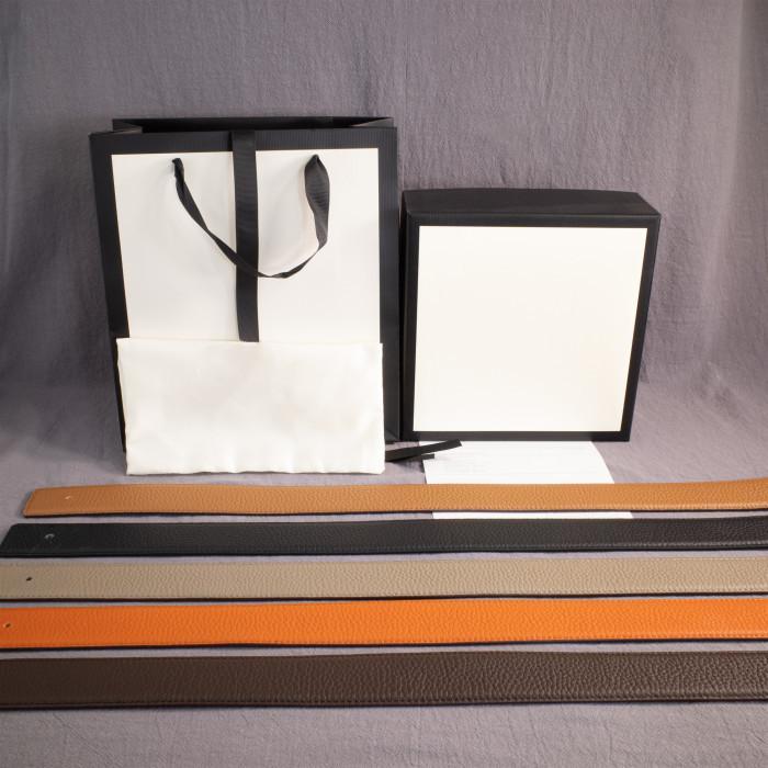 Sıcak Moda Erkek Bayan Kemer Deri Kemerler 2 Renk Kutusu ile Toka Kemer Genişliği 38mm Sıcak Satış Üst Kalite Smooth