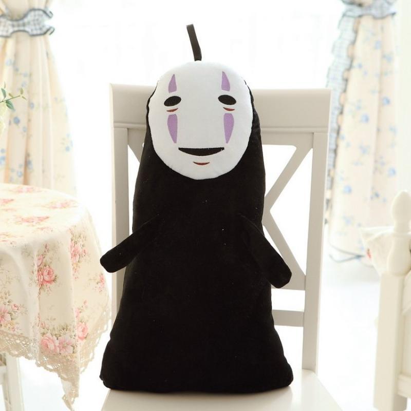 1 Pcs 60CM Studio Ghibli Spirited Away Kaonashi No Face Faceless Cosplay Plush Toys 201012