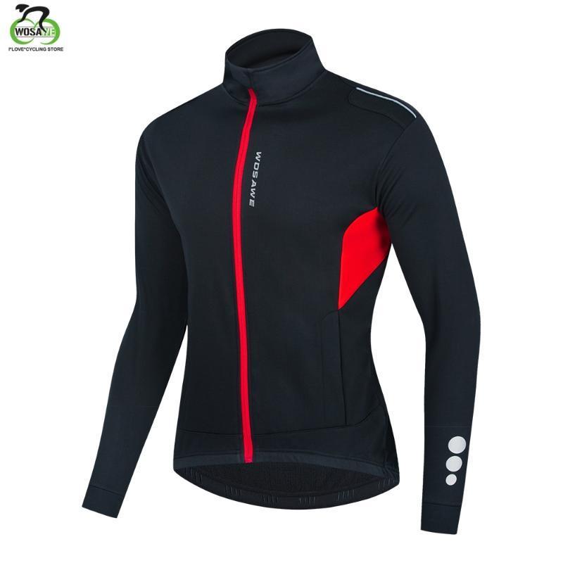 WOSAWE Велоспорт зима куртка ветрозащитной вода Repellet Светоотражающей куртка теплые Мужчины Женщина Горный велосипед MTB Лонг-Джерси