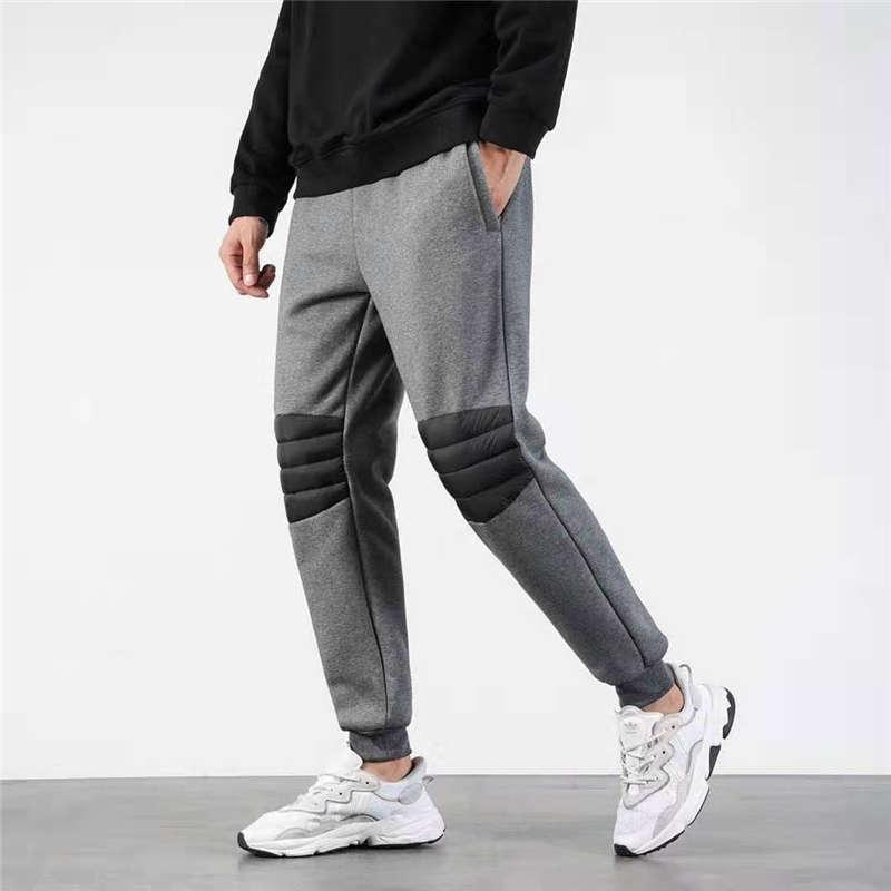 Мужские брюки зима Толстые вниз Спорт Стиль Ith письма Printed Side Street Wear Hip Hop Тренировочные штаны Мужская мода бегуны